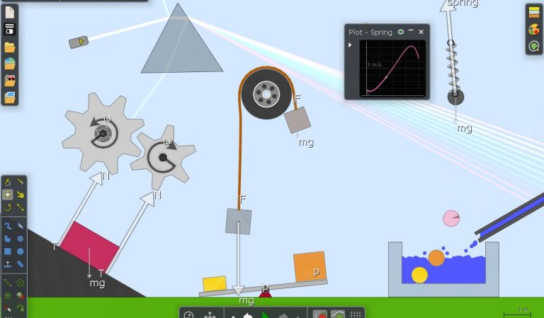 Algodoo  – Symulator do prowadzenia kreatywnych lekcji praw fizyki